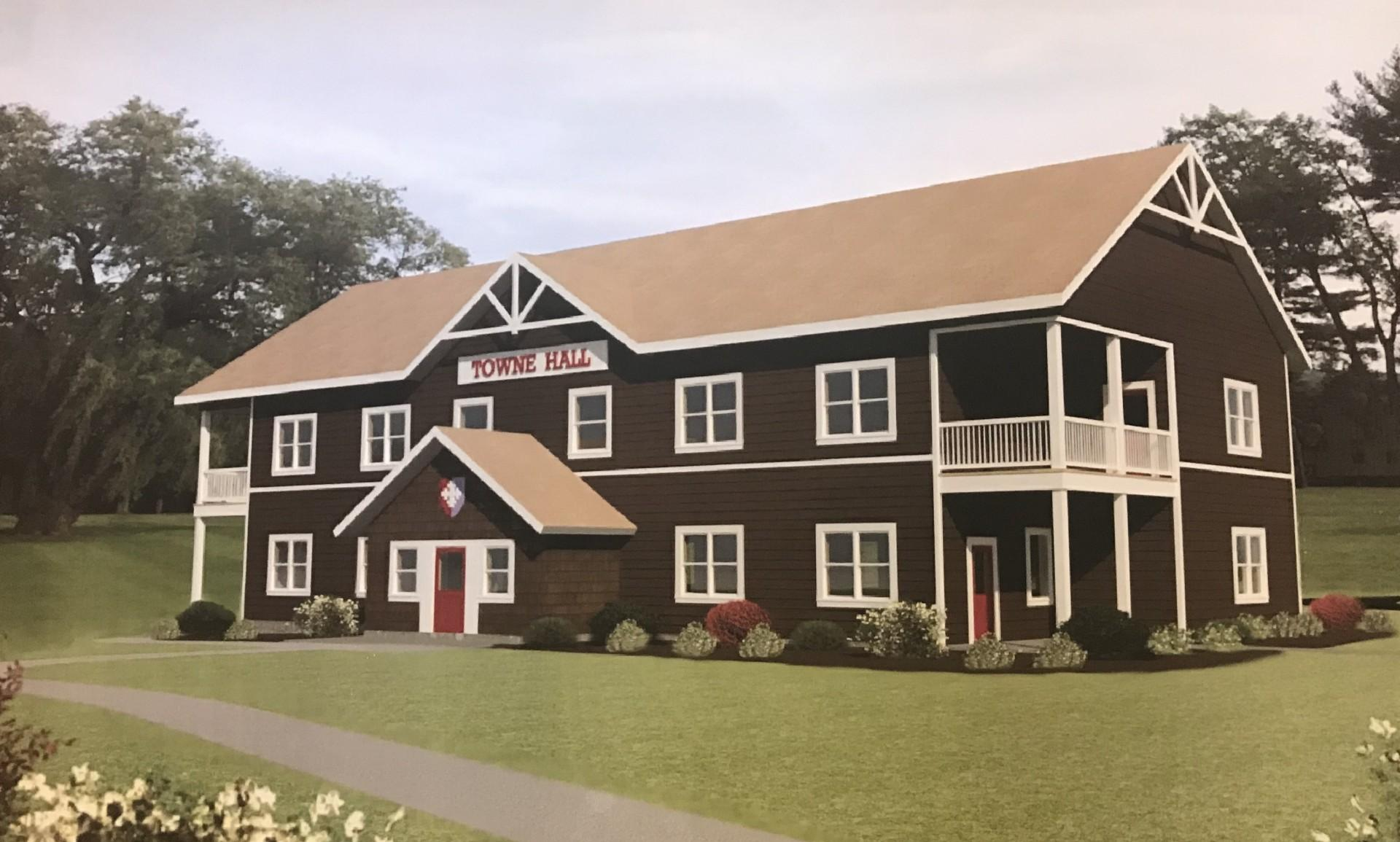 Towne Hall girls dorm building 3-D rendering